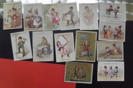 Lot 14 Chromos  Au Musee De Cluny Paris Themes Differents - Kaufmanns- Und Zigarettenbilder