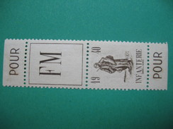 Paire De Carnet   FM Franchise Militaire 1940  Infanterie Neuf ** - Franchise Militaire (timbres)