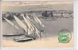 BARQUE(S) SUR LE LAC LEMAN - GENEVE - DECHARGEMENT DES PIERRES SUR LES QUAIS - DOS UNIQUE - 23.09.08 - GE Ginevra