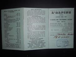 France , Fiscaux Carte De Chasse L Alpine - Fiscales