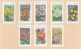Vietnam North N772-779 1974 Chrysanthemus Used Set - Vietnam