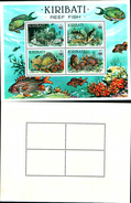 86708) Commonwealth 1985 Kiribati Reef Fish Mnh Mini Sheet - Kiribati (1979-...)
