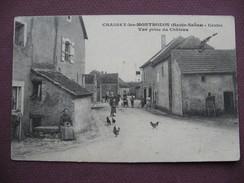 CPA 70 CHASSEY LES MONTBOZON Centre Vue Prise Du Chateau ANIMEE 1914 Canton RIOZ - Autres Communes