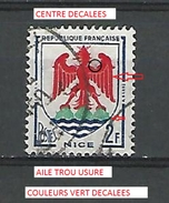 * 1958 N° 1184 NICE  PHOSPHORESCENTE  OBLITÉRÉ - Errors & Oddities