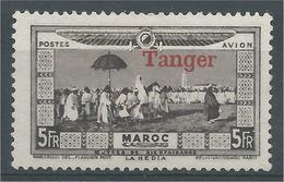 "French Morocco, La Hédia, 5f., Overprint ""TANGER"" 1928, MH VF, Airmail - Morocco (1891-1956)"