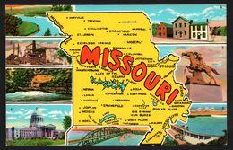 Carte Géographique Du Missouri - Mississippi - Jefferson City - Pony Espress Memorial - Multivues - CURTEICHROM CURTEICH - Etats-Unis
