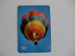 Hot Air Balloon Balão De Ar Quente Portugal Portuguese Pocket Calendar 1988 - Calendriers