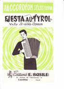 "Partition Accordéon: ""Fiesta Au Tyrol"""", Valse De Gino CONGIN, - Musique & Instruments"