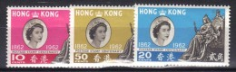W881 - HONG KONG 1962 , Elisabetta Serie Yvert N. 191/193  ***  MNH - Nuovi