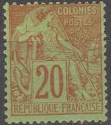 Emission Colonie Générale Française 1881 N° 52 Alphée Dubois MH (D28) - Alphée Dubois