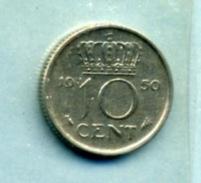 1950 10 CENTS - [ 3] 1815-… : Royaume Des Pays-Bas