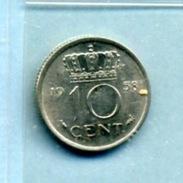 1958 10 CENTS - [ 3] 1815-… : Royaume Des Pays-Bas