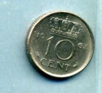 1962 10 CENTS - [ 3] 1815-… : Royaume Des Pays-Bas