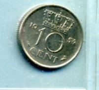 1954 10 CENTS - [ 3] 1815-… : Royaume Des Pays-Bas