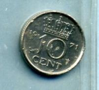 1971 10 CENTS - [ 3] 1815-… : Royaume Des Pays-Bas