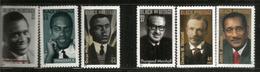 USA:célébrités Americaines (Black Heritage) Malcolm X,Thurgood Marshall,Paul Robeson,Oscar Micheaux,etc - United States