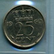1960 25 CENTS - [ 3] 1815-… : Royaume Des Pays-Bas