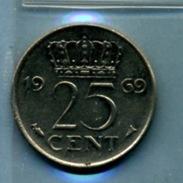 1969 25 CENTS - [ 3] 1815-… : Royaume Des Pays-Bas