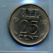 1963 25 CENTS - [ 3] 1815-… : Royaume Des Pays-Bas