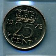 1972 25 CENTS - [ 3] 1815-… : Royaume Des Pays-Bas