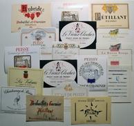 Lot 18 Etiquettes Vin VIGNOBLES De PEISSY Région De GENEVE (Suisse) - Versoix Leyvraz & Stevens Desbaillet & Garnier/ES7 - Labels