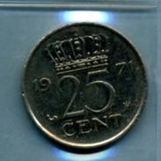 1971 25 CENTS - [ 3] 1815-… : Royaume Des Pays-Bas
