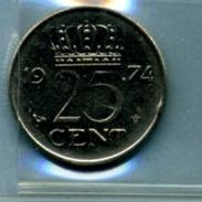 1974  25 CENTS - [ 3] 1815-… : Royaume Des Pays-Bas
