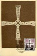 17858  Spain, Maximum 1961 Cruz De Los Angeles,  Centenary Of Foudation Of Oviedo (photo Card) - Tarjetas Máxima