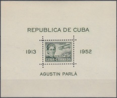1952-330 CUBA REPUBLICA. 1952 SHEET 25c AGUSTIN PARLA Ed.501A UNUSED NO GUM. - Cuba