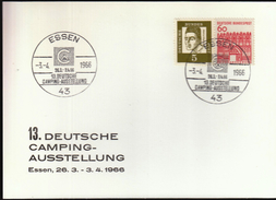 Germany Essen 1966 / German Camping Exhibition / Tent - Holidays & Tourism