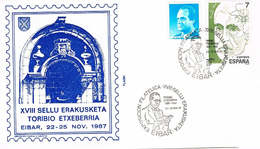 Spanien Brief Aus Eibar, Portal, Schriftsteller - 1991-00 Briefe U. Dokumente