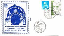 Spanien Brief Aus Eibar, Portal, Schriftsteller - 1931-Heute: 2. Rep. - ... Juan Carlos I