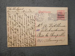 Cpa Entier Postal Envoyé De Bruxelles En 1915 - Liege