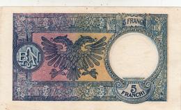Banconota 5 Franga, Albania. Aquila Bicefala. Eccellente Conservazione - Albanien