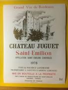 3396 - Château Juguet 1978 Saint-Emilion - Bordeaux