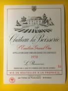 3399 - Château La Boisserie 1978 St-Emilion - Bordeaux