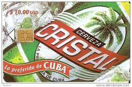 128  TARJETA DE CUBA DE LA CERVEZA CRISTAL (BEER) 1ª EMISION - Cuba