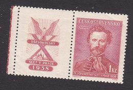 Czechoslovakia, Scott #247, Mint Never Hinged, Jindrich Fugner, Issued 1938 - Czechoslovakia