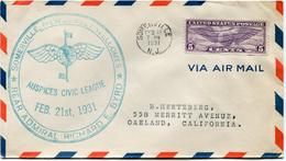 """ETATS-UNIS LETTRE PAR AVION AVEC CACHET """"SOMERVILLE NEW JERSEY WELCOMES REAR ADMIRAL RICHARD E. BYRD FEB. 21st 1931"""" - Event Covers"""