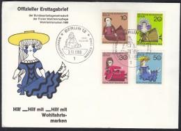 BERLIN 322-325, FDC, Wohlfahrt: Puppen 1968 - FDC: Briefe