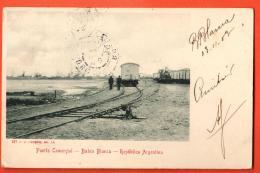 IAB-06 Bahia Blanca Puerto Comercial, Ligne De Chemin De Fer. Pionier. Used In 1903 To France - Argentina