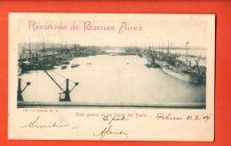 IAB-08 Recuerdo De Buenos Aires Digues Del Puerto. Pionier. Used In 1904 To France - Argentina
