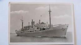 """AK Postcard Antverpen Belgien Mit Motor-Schiff """"BAUDOUINVILLE"""" Von 1953 Nach Deutschland Mit Rotem """"Nachgebühr""""-Stpl. - Antwerpen"""