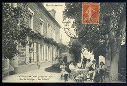 Cpa  Du  49  Doué La Fontaine - Rue Du Collège - Les Tilleuls --  NCL35 - Doue La Fontaine