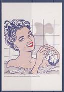 "Roy Lichtenstein  Carte Postale, ""Mujer En El Baño"" 1963, Femme Au Bain, Huile Sur Toile, - Paintings"