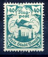 DANZIG 1921 Airmail 40 Pfg. With Nail-head Flaw MH / *.  Michel 66 - Danzig