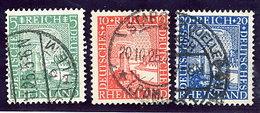 DEUTSCHES REICH 1925 Millenary Of Rheinland Set Used.  Michel 372-74 - Germany