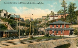 RARE PITTSBURGH TUNNEL TERMINAL AND STATION - Pittsburgh