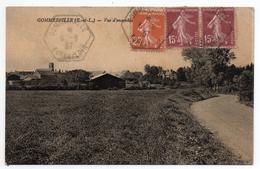 CPA - GOMMERVILLE - VUE D'ENSEMBLE - N/b - Toilée - 1937 - Unique ! - France