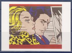 "Roy Lichtenstein Carte Postale ""In The Car"" 1963 ""En Voiture"" Magna Sur Toile - Paintings"